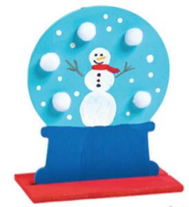 Wooden Snow Globe Craft