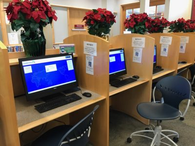 User computers at the library