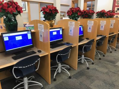Personal computers for library patrons