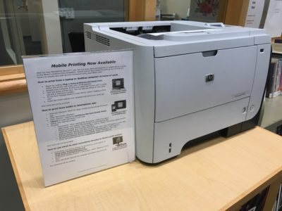 Mobile printing services at the library