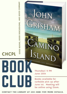 Adult Book Club-Will be meeting via Zoom.