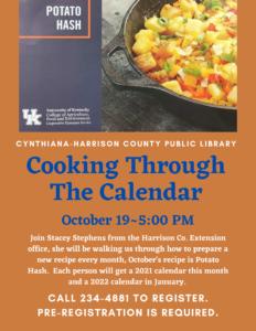 Cooking Through The Calendar