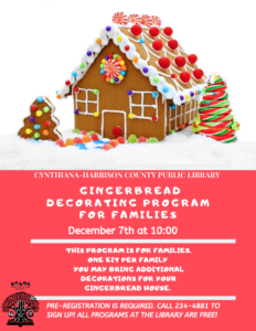 Gingerbread Decorating Program for Families