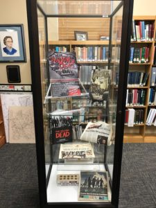 """The Walking Dead"" display in the Kentucky Room"