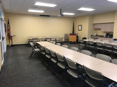 The library Community Room is perfect for medium sized gatherings.