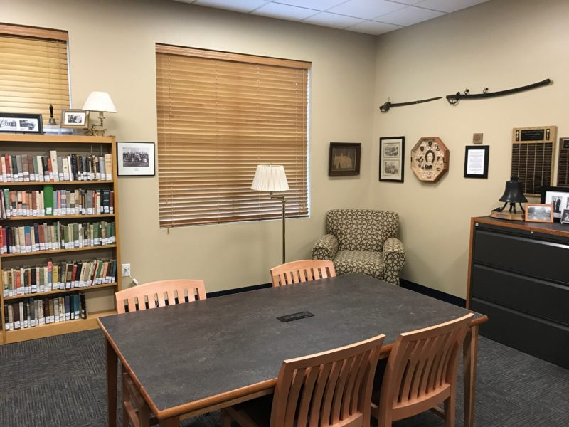 Genealogy and historical items in the Kentucky Room