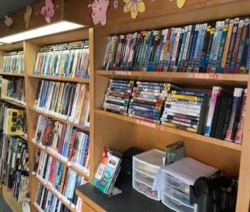 Books, DVDs, Audiobooks, and more in the Bookmobile.