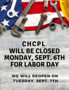 Closed Monday, Sept. 6th for Labor Day
