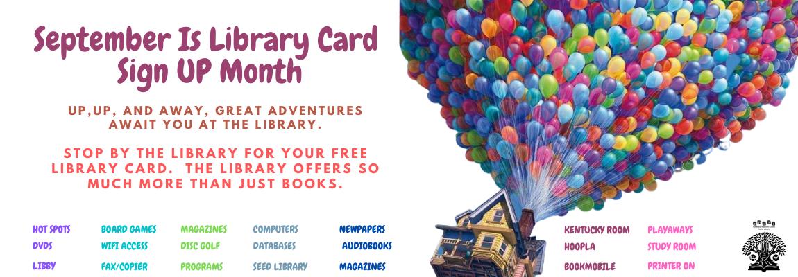Sept library Card Sign Up Website