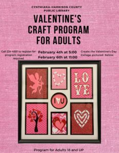 Valentine's Day Craft Program For Adults