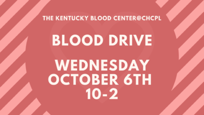 Blood Drive At The Library